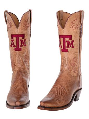 Texas A&M Lucchese Women's Tan Boot