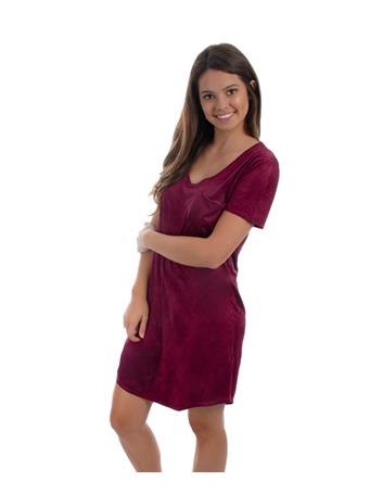 Cassidy Suede Tee Shirt Dress