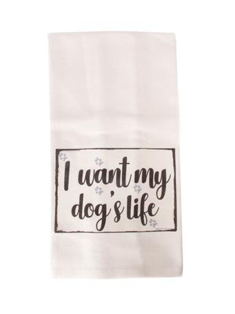 Jazzy Artz Dogs Life Tea Towel