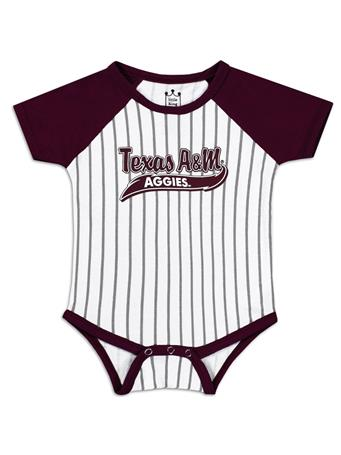 Texas A&M Aggies Infant Baseball Stripe Onesie