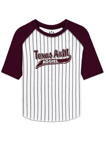 Texas A&M Aggies 3/4 Sleeve Baseball Tee