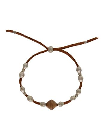 Adera Leather Ammo Bead Bracelet