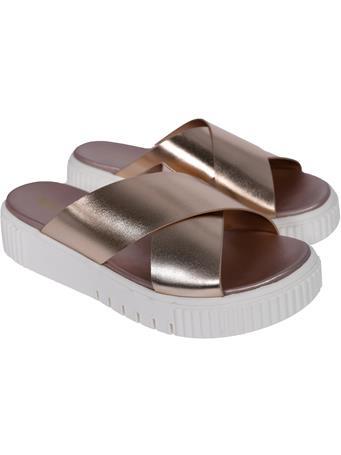 Lia Metallic Rose Gold Sandals
