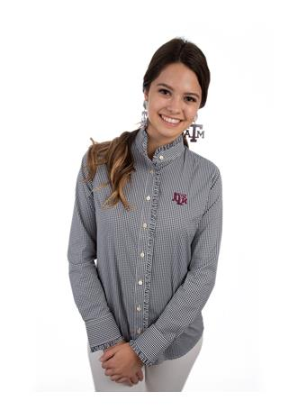 Texas A&M Ladies Ruff Stretch Buttondown