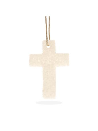 White Cross Strawberry Leather Bead Air Freshener