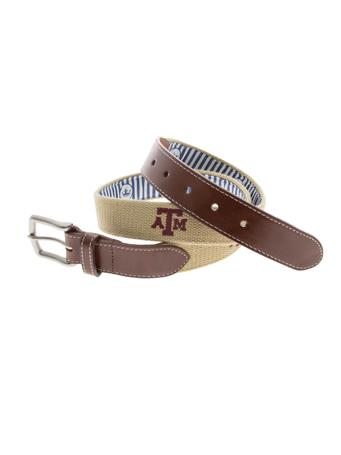 Texas A&M Peter Millar Embroidered Belt