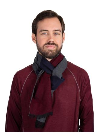 Maroon Tri-Color Brushed Silk Scarf