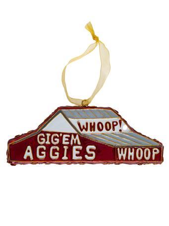 Texas A&M Kitty Keller Whoop Barn Ornament