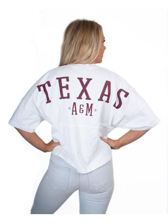 Texas A&M Short Sleeve Cropped Spirit Jersey