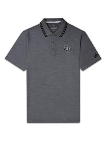 Texas A&M Adidas Ultimate Textured Stripe Polo