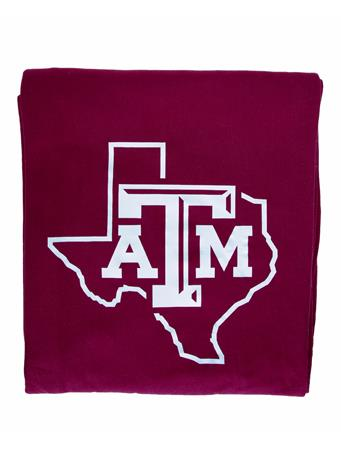Texas A&M Maroon Sweatshirt Throw Blanket