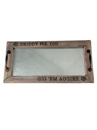 Texas A&M Gig Em Aggies Tray