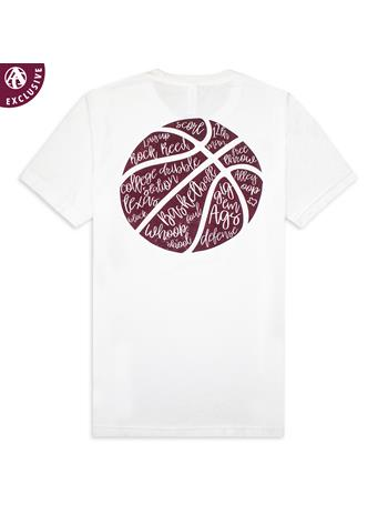 Texas A&M Basketball Script T-Shirt