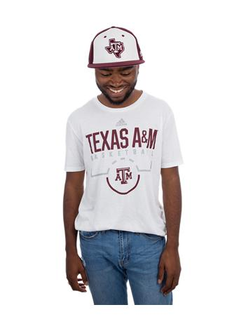 Texas A&M Adidas On Court Basketball Tee