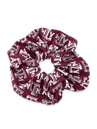 Texas A&M League Repeating Logo Spirit Scrunchie