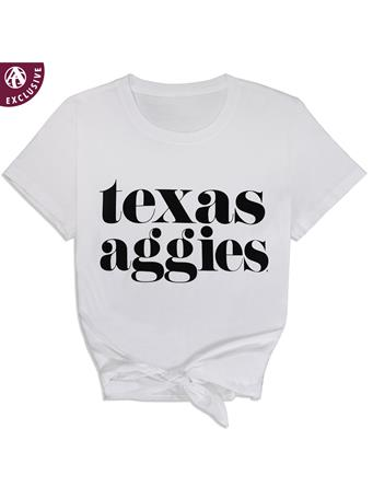Texas A&M Aggies Front Tie Top