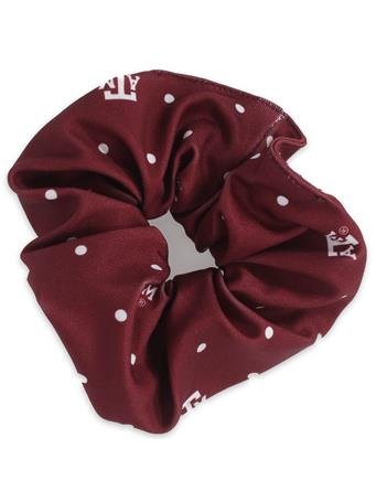 Texas A&M Polka Dot Scrunchie