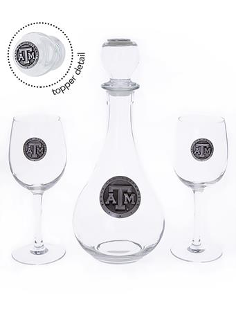 Texas A&M Wine Boxed Decanter Set