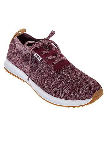 Maroon True Knit Golf Shoes