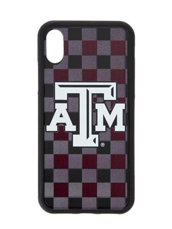 Texas A&M Plaid iPhone X/XS Bump Case