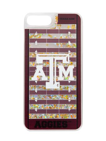 Texas A&M Football Field Glitter iPhone 7+/8+ Case