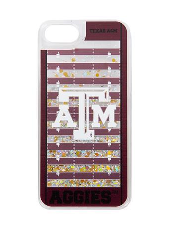 Texas A&M Football Field Glitter iPhone 6/7/8 Case