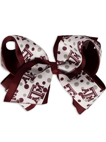 Texas A&M Polka Dot King Bow