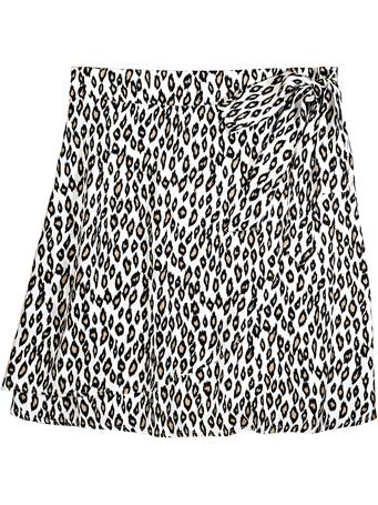 Faux Wrap Cheetah Skirt