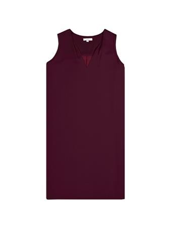 Maroon Classic Sleeveless Dress