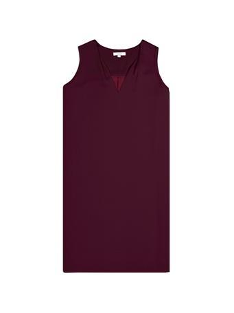 Maroon Classic Sleeveless Dress