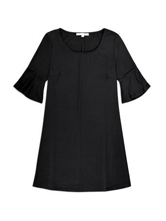Black Bell Sleeve Pull Over Dress