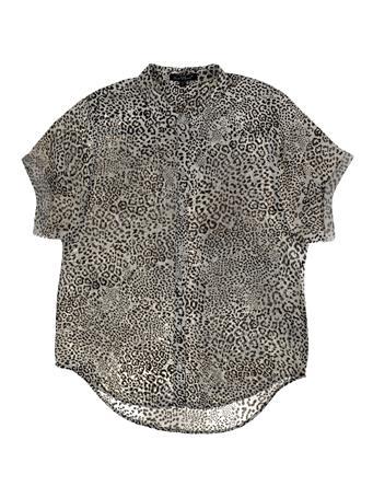 Button Down Cheetah Print Top
