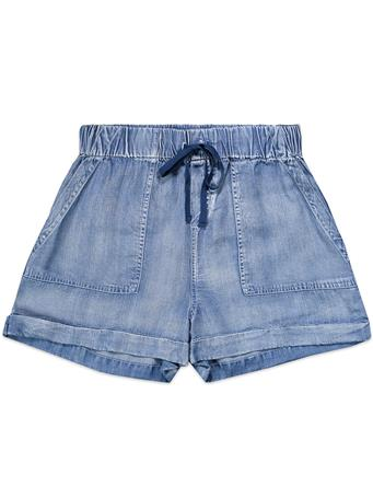 Flowy Tie Up Blue Jean Shorts