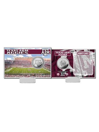 Texas A&M Stadium History Coin Card