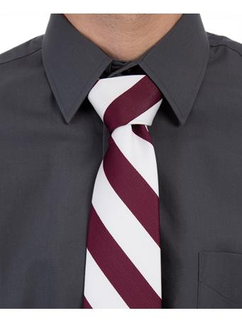 Maroon and White Tie