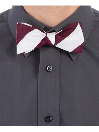 Maroon & White Bow Tie