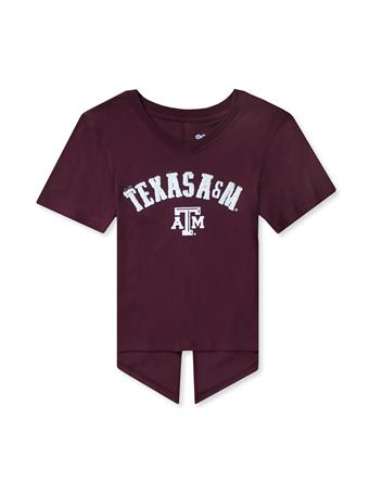 Texas A&M Show Love Youth V-Neck Tie Tee