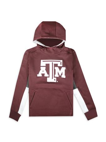 Texas A&M Youth Status Performance Pullover Hoodie