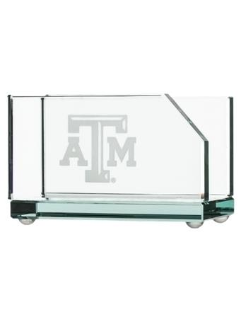 Texas A&M Campus Crystal Business Card Holder