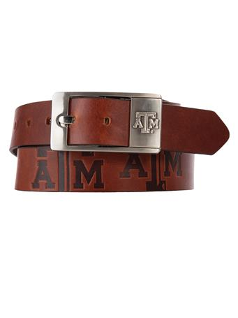 Texas A&M Brandish Leather Belt