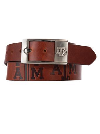 Texas A&M Brandish Leather Belt