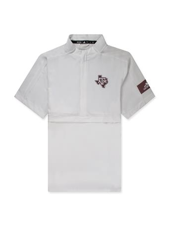 Texas A&M Adidas  Game Mode SS Woven 1/4 Z