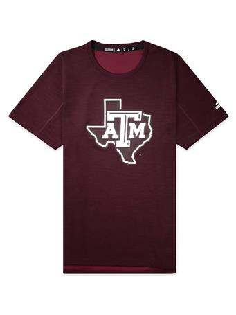 Texas A&M Adidas Game Mode Training Tee