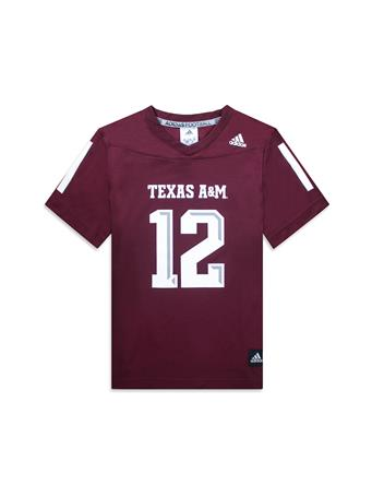 Texas A&M Adidas Youth Replica Football Jersey