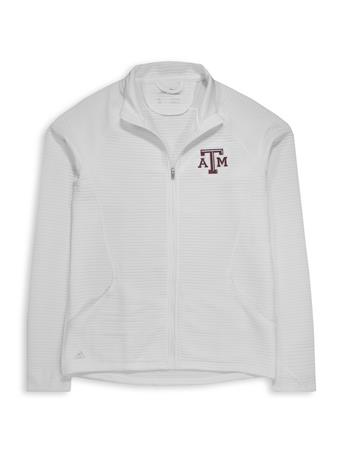 Texas A&M Adidas Women's Textured Full Zip Jacket