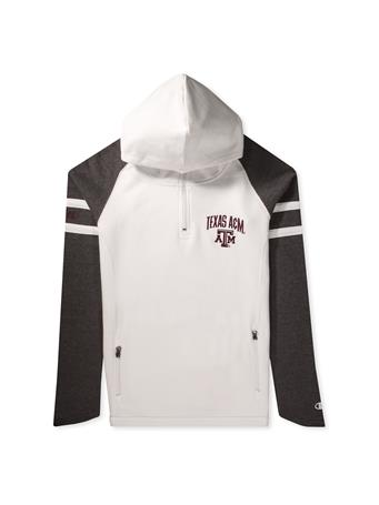 Texas A&M Super Fan Womens MTO 1/4 Zip Cowl Hood