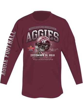 Texas A&M 2018 Gator Bowl Long Sleeve T-Shirt