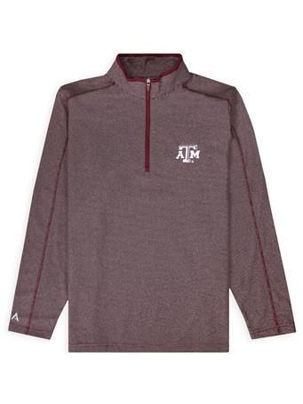 Texas A&M Antigua Brawn Men's Quarter Zip
