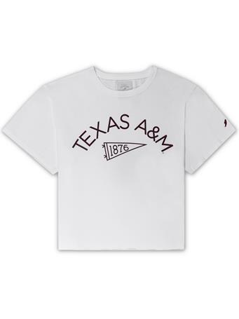 Texas A&M League Pennant Clothesline Cotton Crop Tee