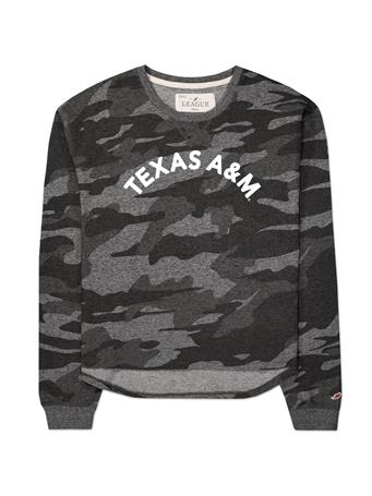Texas A&M League Women's Camo Crew Sweater